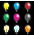 Color light bulbs - light source eps10 vector