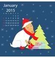 January calendar vector