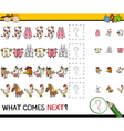 What comes next game cartoon vector