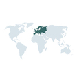 World map europe vector