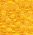 Texture with golden coins seamless pattern vector