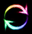 Circular blazing arrows vector
