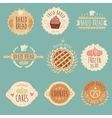 Bakery labels set bread vintage vector