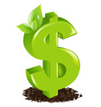 Dollar with sprout vector