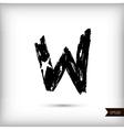 Calligraphic watercolor letter w vector