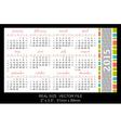 Pocket calendar 2015 start on sunday vector