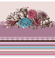 Retro wedding flower bouquets floral garden design vector