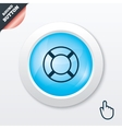 Lifebuoy sign icon life salvation symbol vector