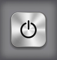Power icon - metal app button vector