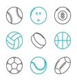 Simple trendy sport icons set vector