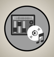 Music production icon vector