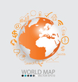 Modern globe with application icon modern template vector
