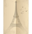 Vintage card with eiffel tower vector