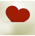 Heart label from paper valentines day card  eps8 vector