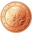 German coin euro cents vector