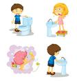 Kids and bathroom accessories vector