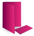 Background pink business card and document case vector