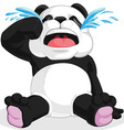 Panda crying vector