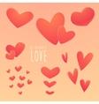 Romantic set beautiful hearts vector