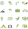 Collection of icons for travel tourism and active vector