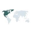 World map north america vector