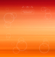 Abstract blurred orange background vector
