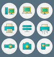 Icons set for web site design and mobile apps vector