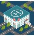 Hospital building medical flat isometric vector