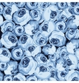 Painted flower seamless pattern with blue roses vector