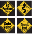 Grunge road signs vector