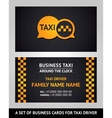Business cards - taxi vector