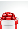 Gift box with bow and light vector