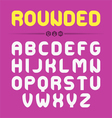 Rounded font design vector