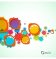 Abstract background of colored rounded bulk items vector