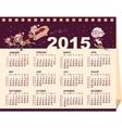 2015 wall calendar vector