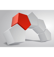 3d arc of pentagonal prism pentaprism abstract vector