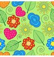 Seamless background with swirls leaves flowers vector