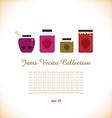 Set of jams icon vector