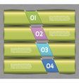 Paper numbered banners design template vector