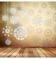 White snowflakes in beige room eps 10 vector
