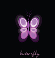 Butterfly on black background vector