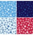 Snow seamless background set vector