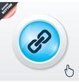 Link sign icon hyperlink symbol vector