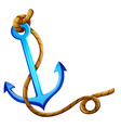 An anchor with a rope vector