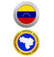 Button as a symbol venezuela vector