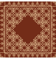 Quadratic brown background with beige ornament vector