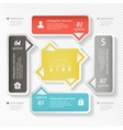 Design business infographics four successive vector