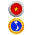 Button as a symbol vietnam vector