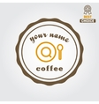 Vintage logo for coffee shop cafe and restaurant vector