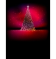 Abstract golden christmas tree on red eps 10 vector